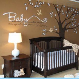 Baby- sometimes the smallest things take up the most room in your heart... can't tell what the rest says