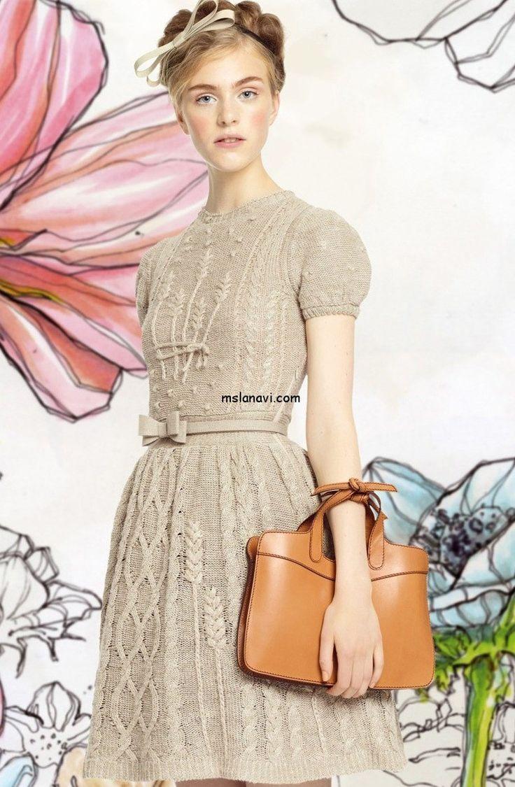 Модное вязаное платье с колосками от Valentino | Мисс Лана Ви | Ms Lana Vi