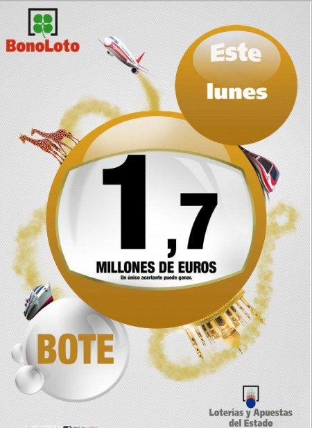 Bonoloto, Bote, 1.7 Millones €, Lunes 21/10/2013