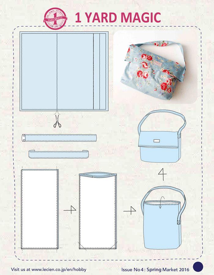 1 Yard Magic Messenger Bag from Lecien Fabrics {2 Bags!} — SewCanShe | Free Daily Sewing Tutorials