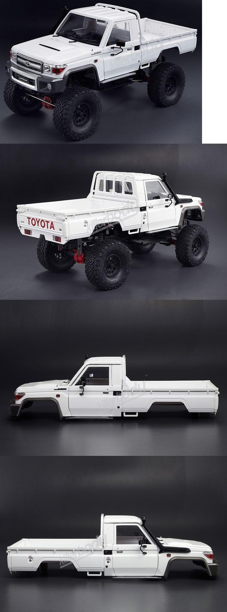 Cars Trucks and Motorcycles 34061: Rc 1 10 Truck Hard Body Shell Toyota Land Cruiser 70 Pick Up For Axial + Snorkle -> BUY IT NOW ONLY: $135.99 on eBay!