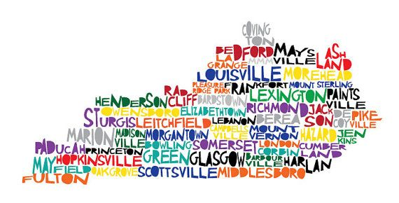 cute map of kentucky on etsy. & the artist can put your city on there if it isnt! eff paintsville, it needs to be replaced by pburg.
