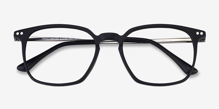 Ghostwriter Matte Black Metal Eyeglasses from EyeBuyDirect. Discover exceptional style, quality, and price. This frame is a great addition to any collection.