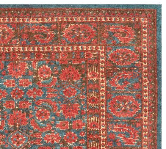 Mahalia Printed Rug Blue Multi In 2020 Rugs Wool Area