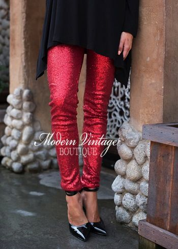 Red Sparkly Sequins Leggings Pants for your Holiday Christmas Parties! Online boutique. Best outfits. Shop our huge selection of stylish women's clothing, shoes and accessories, including tops, dresses, cardigans, jewelry and layering apparel. Free shipping when you spend $100.