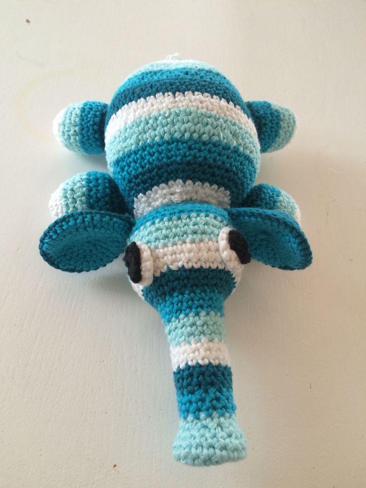 Hjemmelavet hæklet elefant