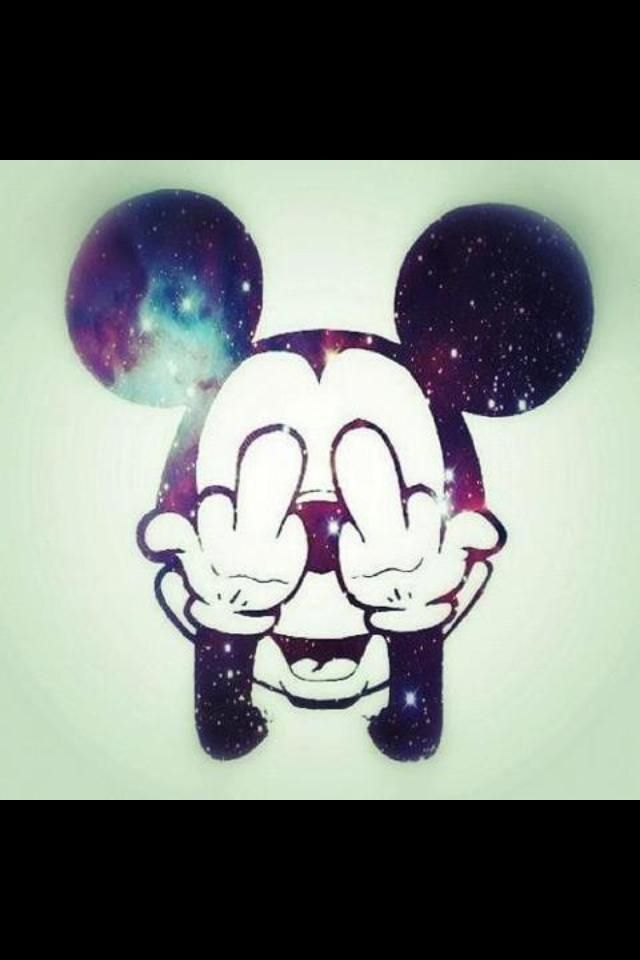 mickey mouse middle finger wat i laugh at pinterest