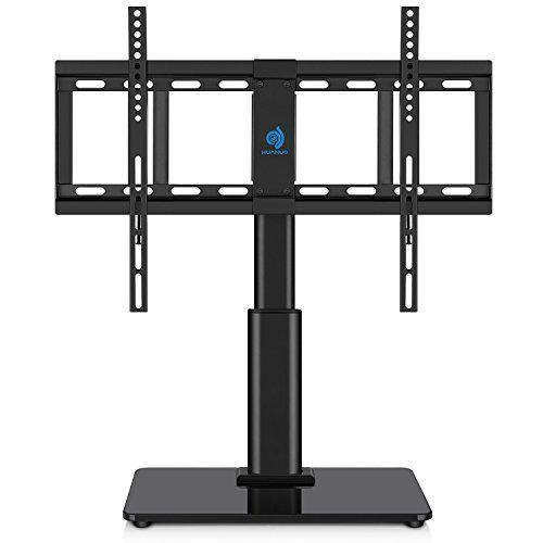 HUANUO FREE STANDING TABLE TOP TV STAND, A PERFECT SOLUTION TO HOLD YOUR TV! Table Top Free Standing TV Stand Drilling holes on your wall? NO!HUANUO tabletop TV stand is designed to hold your TV on your table/desk. You don't need to drill holes on your wall, saving much on house... more details available at https://furniture.bestselleroutlets.com/game-recreation-room-furniture/tv-media-furniture/television-stands-entertainment-centers/product-review-for-universal-table-t