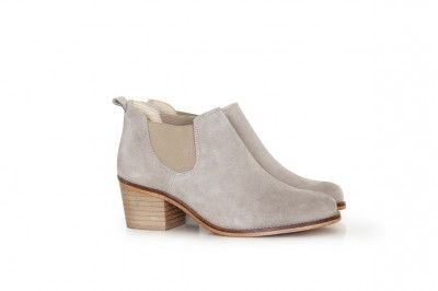 JANIS - SUEDE TAUPE #derbies #boots #shoes #women #leather