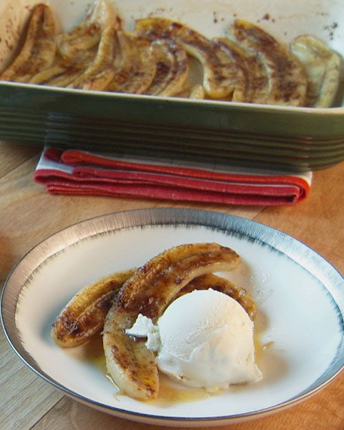 Baked Bananas - by Lucinda Scala Quinn. SO easy and absolutely delicious!