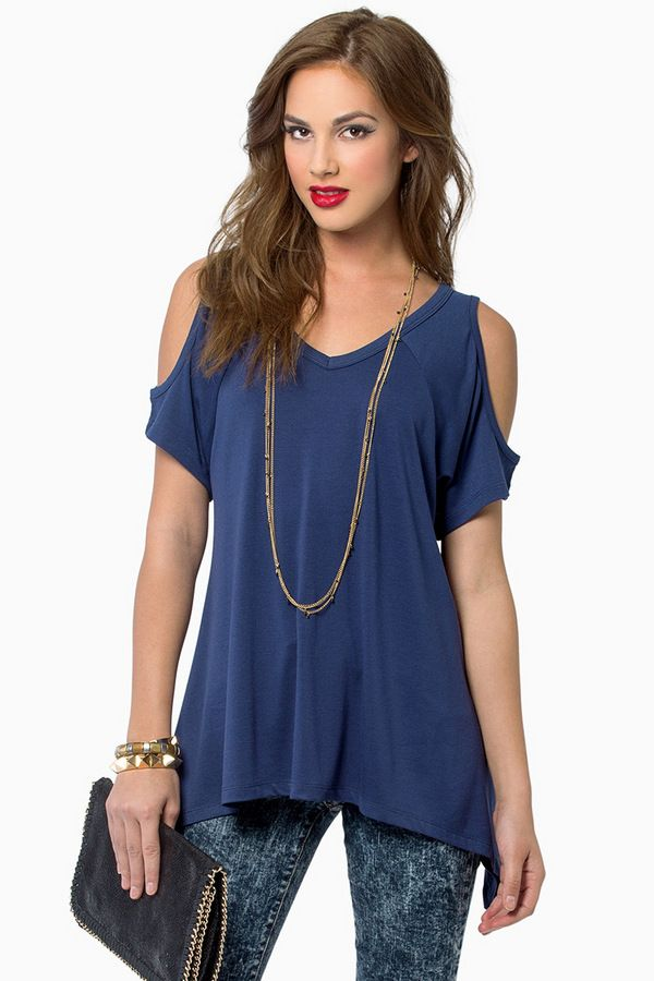 Tobi Ice Cold Shoulder Top