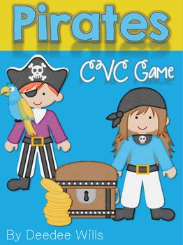 "CVC Fun with Pirates!This is a predictable game structure. You just need to teach it once and then your students will be hooked for the entire year! They love getting the ""special"" cards.You can use this is small group or part of your literacy stations, literacy centers, or word work.CCSS.ELA-LITERACY.RF.K.3.BAssociate the long and short sounds with the common spellings (graphemes) for the five major vowels.CCSS.ELA-LITERACY.RF.1.3.C Know final -e and common vowel team conventions for…"