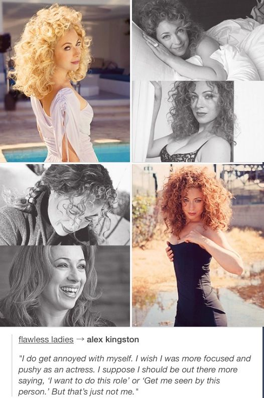 Alex Kingston. Her character RIver Song is my favorite companion ever..if you call her that. She's a very sexy lady , she's an ageless beauty.