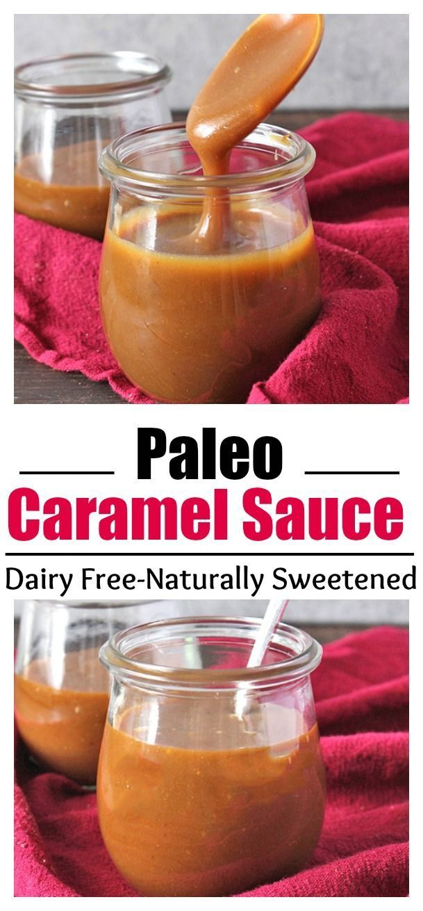 Paleo Homemade Caramel Sauce- thick, smooth, sweet, and so delicious! Dairy free, naturally sweetened, and gluten free.
