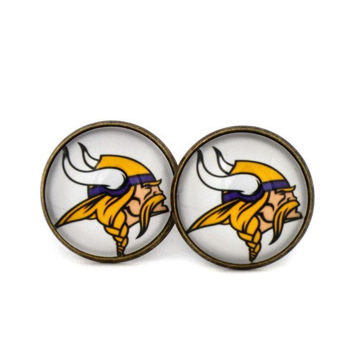 Minnesota Vikings Football Team Logo cufflinks.American football team. NFL.NFC. Personalised Silver. Men's jewelry accessories gift. by Mysstic on Etsy