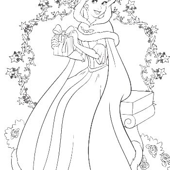 Princess Belle Wanted To Give Gifts The Prince In Days Of Christmas Coloring Pages