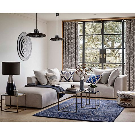 Buy John Lewis Tokyo LHF Large Corner Group, Zarao Blue Grey Online at johnlewis.com