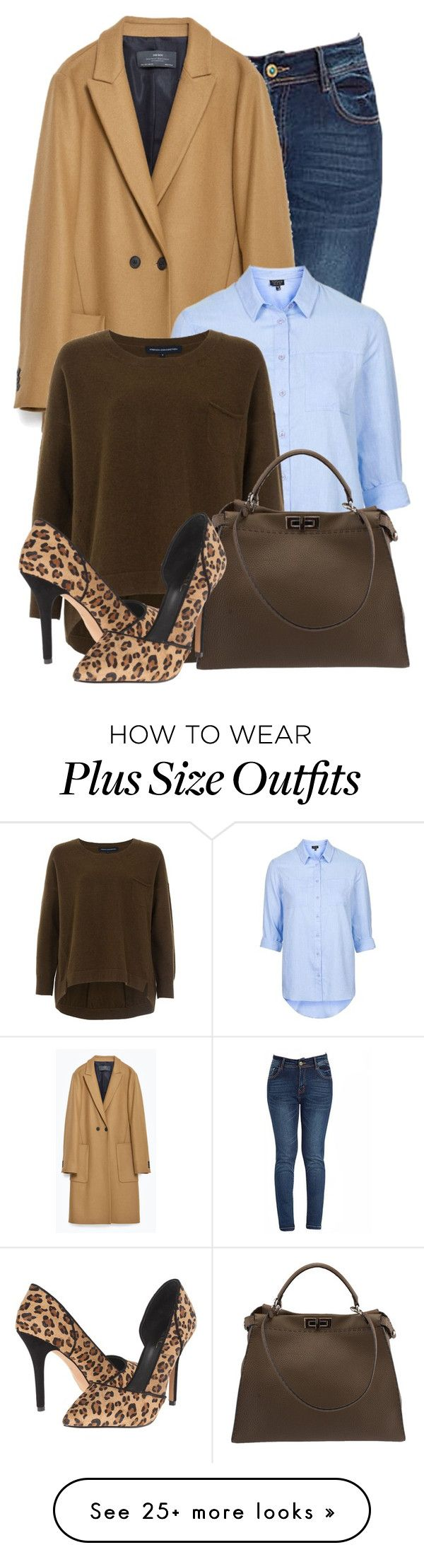 """Untitled #1122"" by mrs-rc on Polyvore featuring Zara, Topshop, French Connection, Fendi, Artelier by Nicole Miller, women's clothing, women's fashion, women, female and woman"