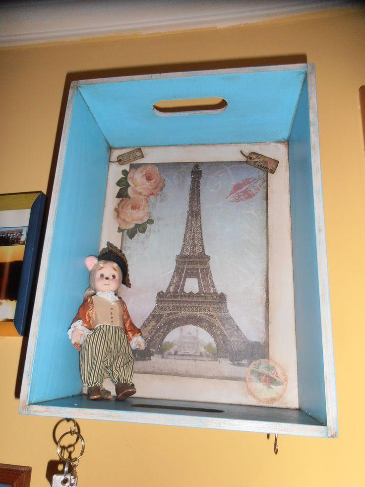 Caja-estantería decorativa para el pasillo