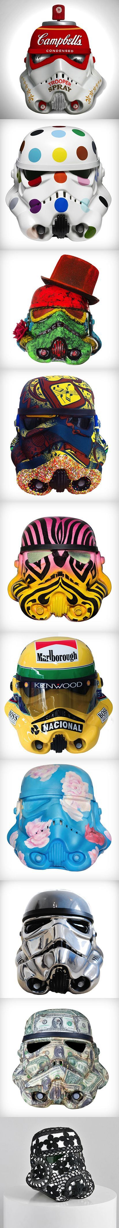 Art Wars: Famous Artists Remix the Famous Star Wars Storm Trooper Helmet (Coming to the London Underground) Read more at http://www.visualnews.com/2013/10/15/art-wars-famous-artists-remix-famous-star-wars-storm-trooper-helmet/#lP2TkzEjE3vZ9SI5.99: