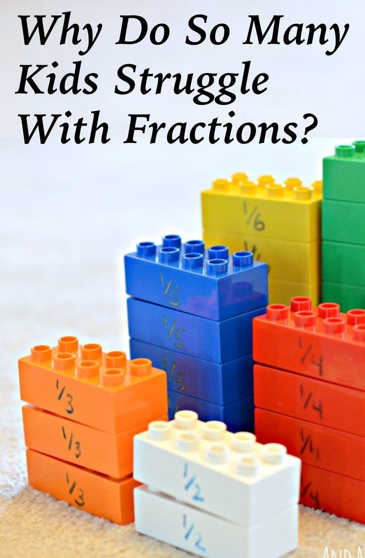 What else is in the fractions section?
