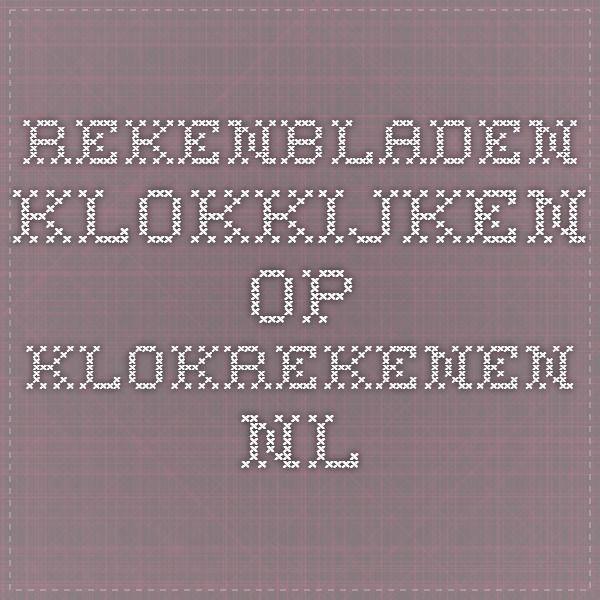 Rekenbladen klokkijken op klokrekenen.nl