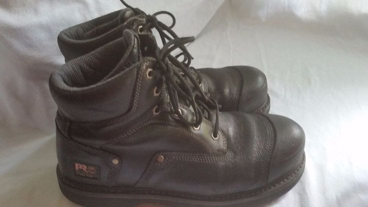 MEN'S TIMBERLAND PRO SERIES 24/7 STEEL TOE WORK BOOTS-SIZE 9.5M-OIL & SLIP RESIS #PROSERIES247 #WorkSafety