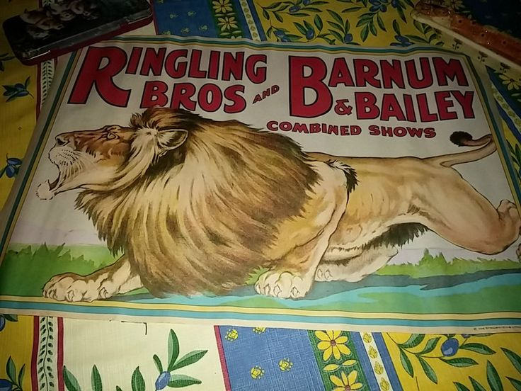 Circus poster. Affiche de Cirque. Ringling. Barnum and Bailey
