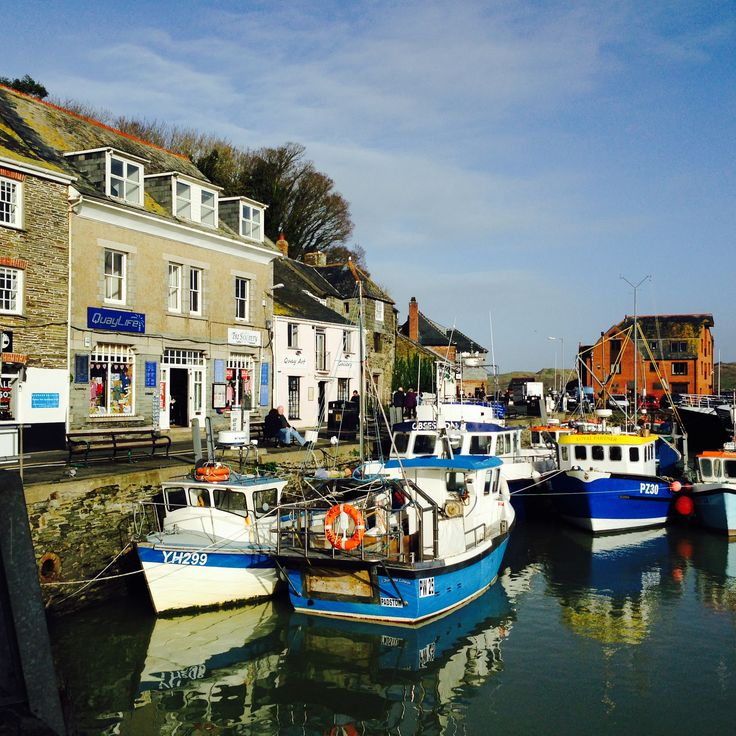 Padstow harbour in January sunshine. Holidays in #Cornwall can be interesting all year round from Bosinver Holiday Cottages