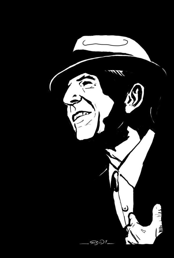 Leonard Cohen by ra3ndy on DeviantArt