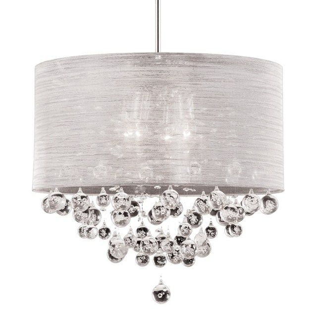 Best Photo Of Drum Chandelier With Crystals With Images