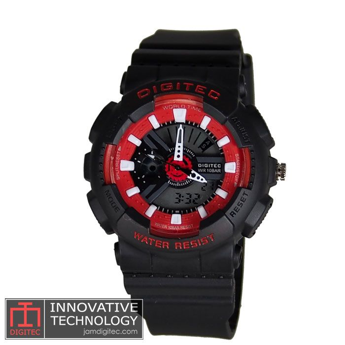 jam tangan digitec wanita DG-2063T hitam merah