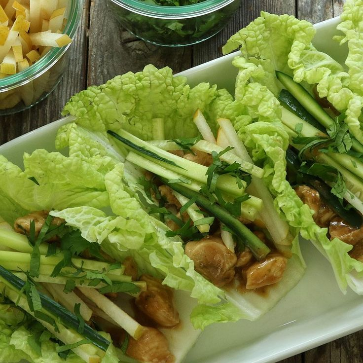 Cabbage is a tasty low-calorie stand-in for buns or bread in this healthy chicken lettuce wrap recipe. Don't limit yourself to cabbage for this Thai-inspired recipe--any fresh green that's sturdy enough to wrap around 1/2 cup of filling works.