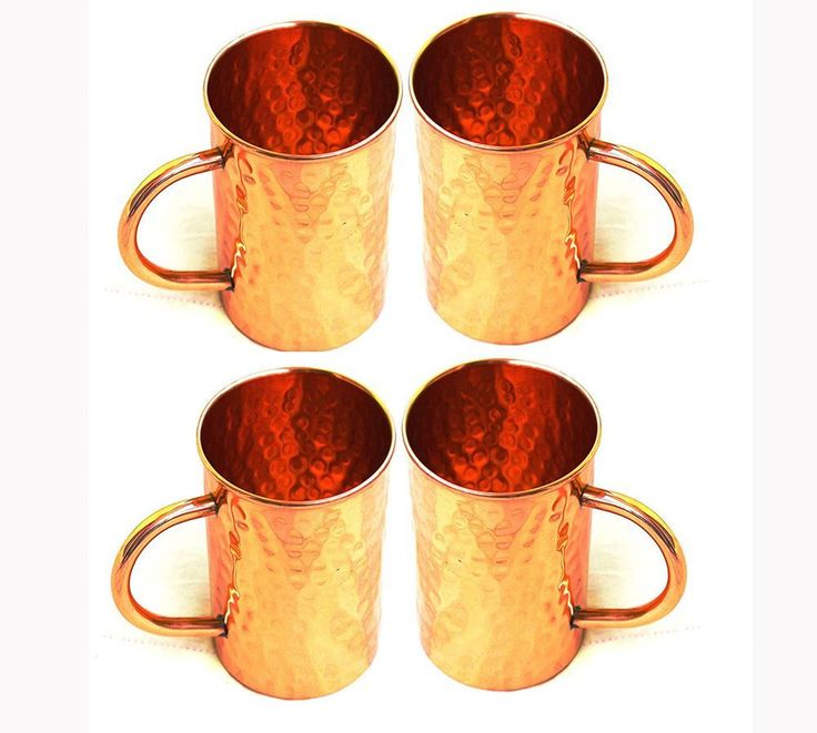 Picture of STREET CRAFT Hammered Copper Moscow Mule Mug Handmade of 100% Pure Copper, Drinkware Accessories Hammered Copper Moscow Mule Mug Capacity-16 Oz. (4)