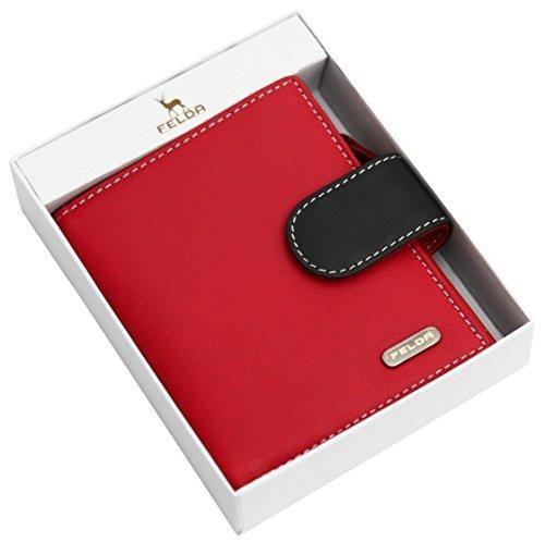 Oferta: 24.99€ Dto: -58%. Comprar Ofertas de Cartera para mujer - Con bloqueo de transmisiones RFID y 10 ranuras para tarjetas - Cuero auténtico muy suave - Rojo y negro barato. ¡Mira las ofertas!