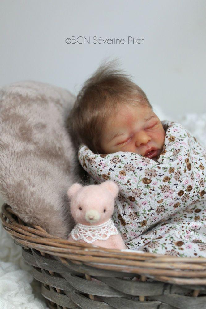 BCN ~ Baby reborn doll - Wee Patience by Laura Lee Eagles ~ Slumberland mohair
