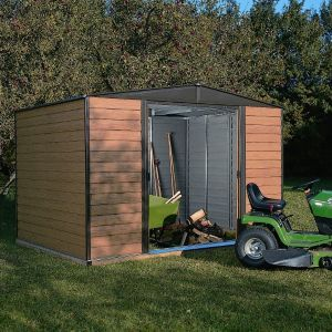 Arrow 10X6 Woodvale Apex Metal Shed MEWV106PF 10X6 Woodvale Apex Metal Shed.This Woodvale 10x6 apex metal shed is ideal for securely protecting and storing garden essentials. (Barcode EAN=5013856015499) http://www.MightGet.com/april-2017-1/arrow-10x6-woodvale-apex-metal-shed-mewv106pf.asp