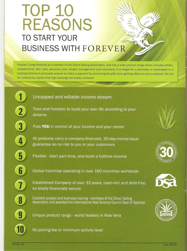 Top 10 Reasons to join Forever!  If you want more information, find me on facebook and send me a message!! Nothing to lose by having a chat!  https://www.facebook.com/heavenlyaloe