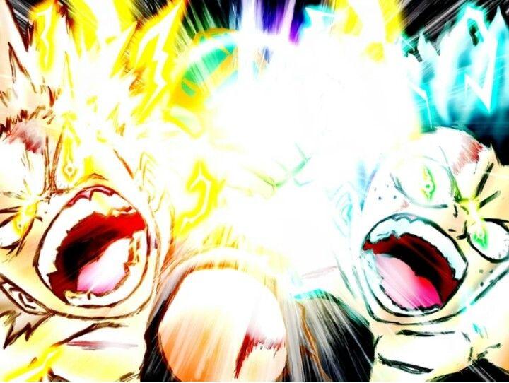 Bakugou And Deku Vs Nine Heroes Rising In 2020 Hero My Hero Anime Inspired