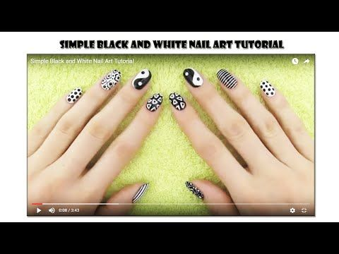 Simple Black and White Nail Art Tutorial   Makeup Tutorial Channel... See More Here : http://goo.gl/jDA1dc  Hope Your Enjoy! ..... Like, Share, Comment & Subscribe Us!  More Makeup Tutorial Channel videos ... Click Here: https://www.youtube.com/channel/UC3SbRN6zFEgCdnKHZj28B4w #nailart #nailarttutorial #nailarttutorialvideo