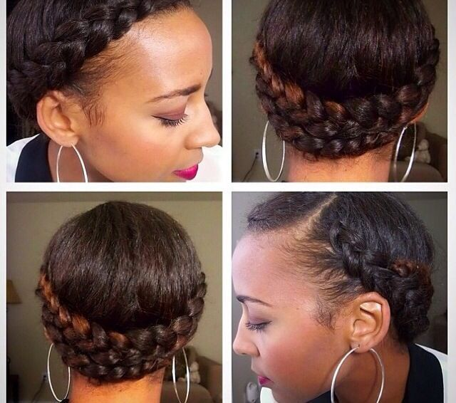 10 Gorgeous Photos of French and Dutch Braid Updos on Natural Hair   Black Girl with Long Hair