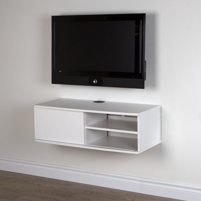 Wall Mounted TV Stand Entertainment Center Furniture Console Media Cabinet White