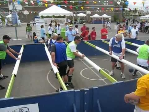 Human Foosball Court! - YouTube