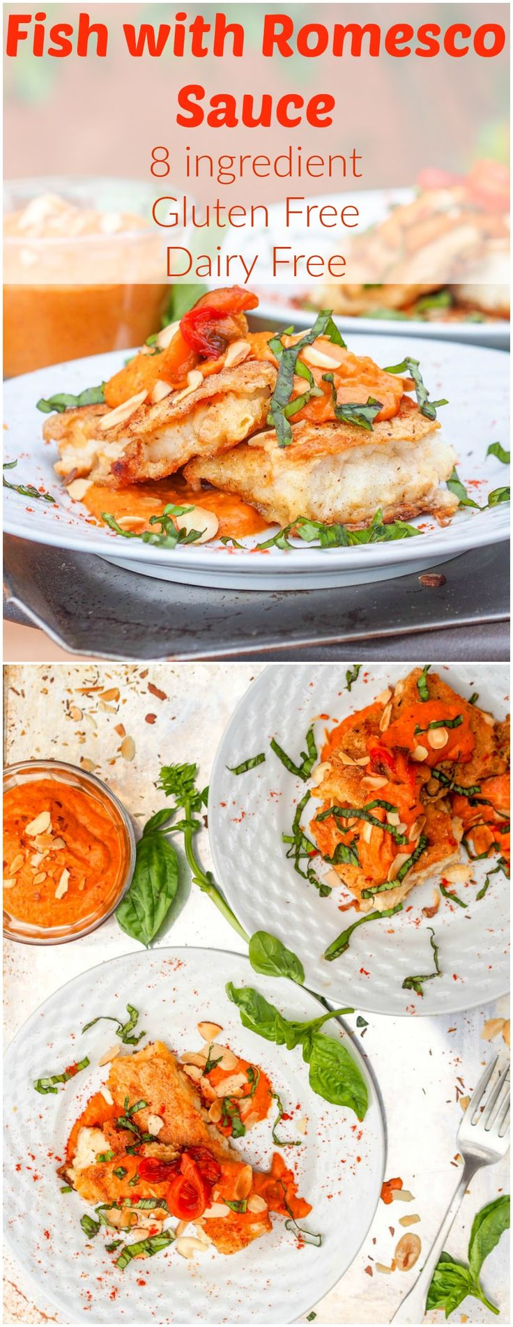 Red snapper fish with romesco sauce gf df recipe for Fish sauce gluten free