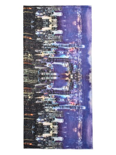 Lily & Lionel Hong Kong cityscape scarf