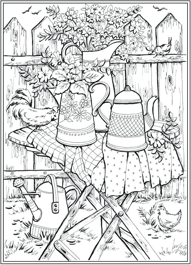 Creative Haven Coloring Books Page 6 Of 7 Country Charm A