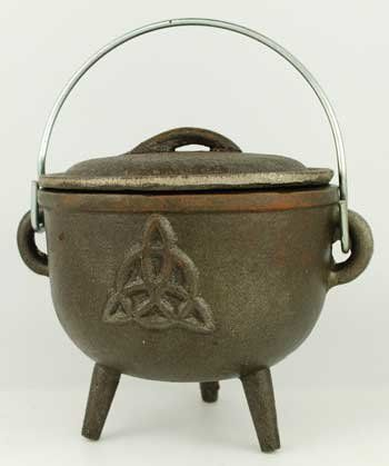 "Magickal, Metaphysical & Occult Merchandise - Witches Of The Craft Triquetra cast iron cauldron 4 1/2"" $21.95"
