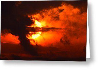 All Greeting Cards - Bellissimo primo piano di un tramonto rosso nuvoloso e drammatico Greeting Card by Orazio Puccio #business #b2bmarketing #socialmediamarketing #contentmarketing #marketingtips #digitalmarketing #marketing