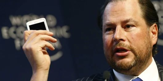 Salesforce CEO Marc Benioff says there's a major shift happening in business software