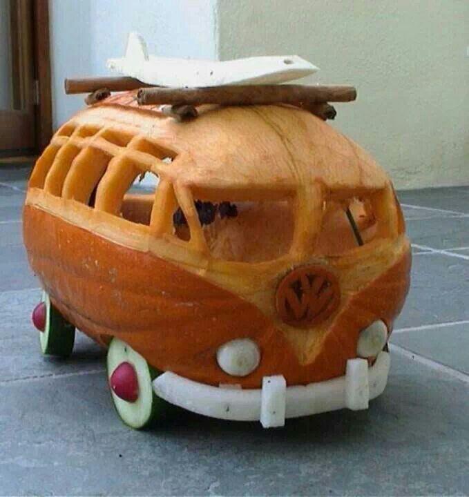 car themed pumpkin carving vw bus  art  cars pinterest pumpkin carvings carving
